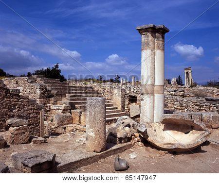Roman town ruins, Kourion, Cyprus.