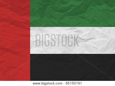 United Arab Emirates Flag Crumpled Paper