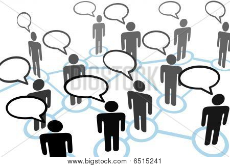 Everybodys Talking Speech Bubble Communication Network