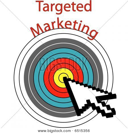 Targeted Marketing Pixel Cursor Clicks On Target