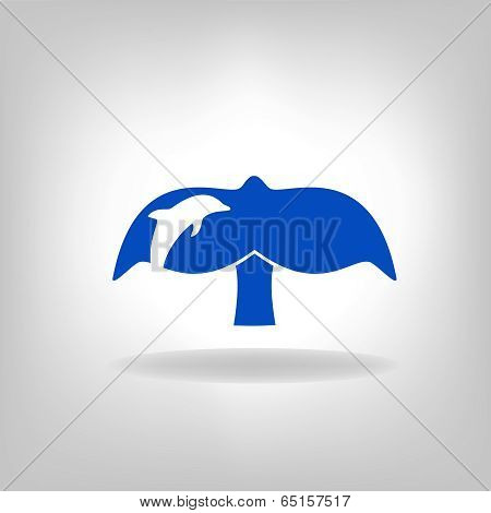 emblem a tail of a whale