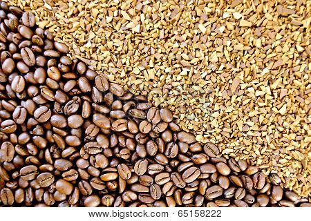 Coffee Beans And Granular