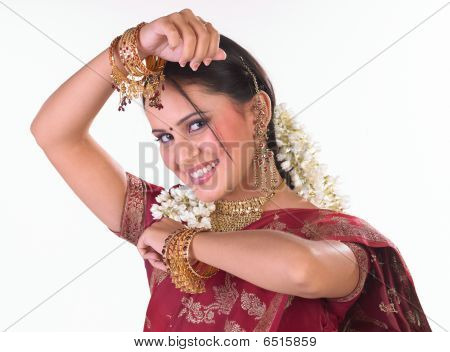 Indian girl with beautiful smile