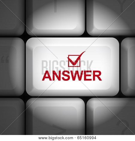 Answer Concept With Computer Keyboard