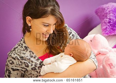 Mother Loving Her Baby
