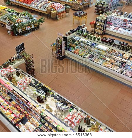 Montreal, Quebec, Canada - April 2, 2014: Loblaws Supermarket In Montreal, Canada, Offering A Variet