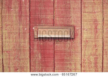 Letterbox And Wooden Door