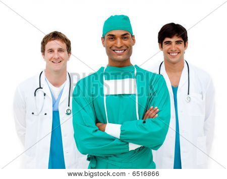 Medical Team Smiling At The Camera