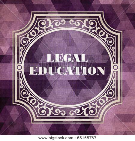 Legal Education Concept. Purple Vintage design.