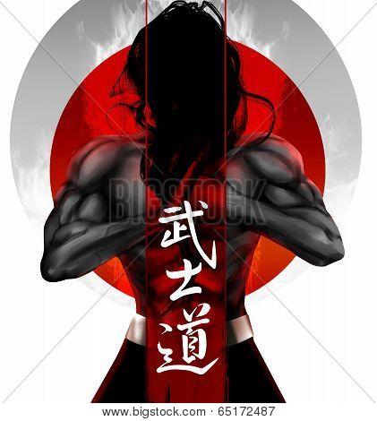 Samurai pose
