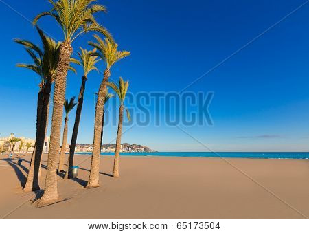 Benidorm Alicante playa de Poniente beach in spain Valencian community