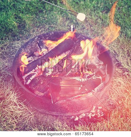 Fire Pit campfire - instagram effect
