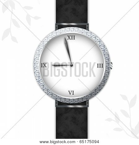 Classy Diamond Watch