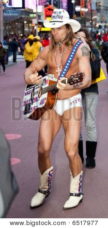 Naked Cowboy in Times Square