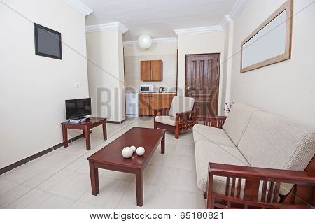 Interior Of Living Room In An Apartment