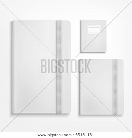 Blank Booklet Set On White Background