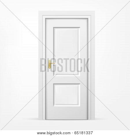 3D Door On White Background