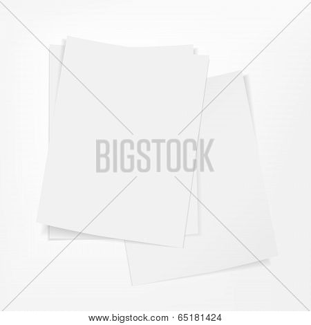 Stack Of Paper On White Background