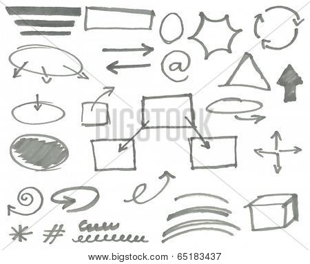 Vector marker elements