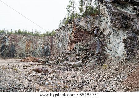 Vertical Layered Limestone