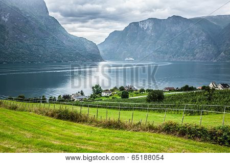 Sognefjord View On A Cloudy Day, Norway