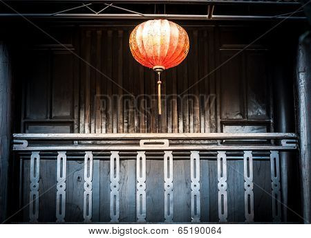 Lantern Hanging In Front Of House, Vietnam.