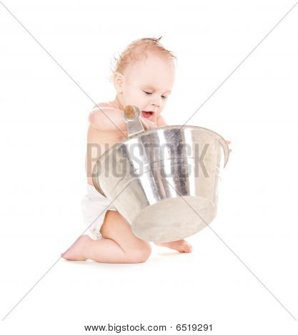 Baby Boy With Wash-tub
