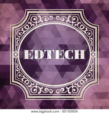 Edtech Concept. Vintage design.