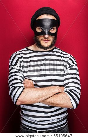 Angry thief with mask