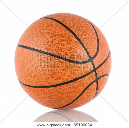 Ball For The Game In Basketball Isolate