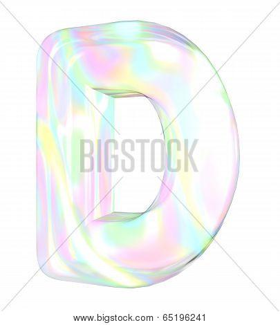 Rainbow alphabet-D