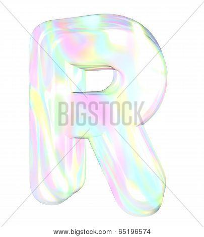 Rainbow alphabet-R