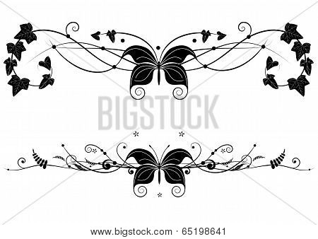 Vignette  Set With Butterfly