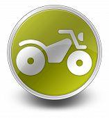 image of four-wheeler  - Image Graphic Icon Button Pictogram with ATV symbol - JPG