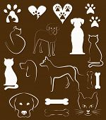 image of animal footprint  - cats and dogs - JPG