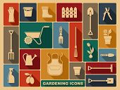 stock photo of hoe  - Garden tools - JPG