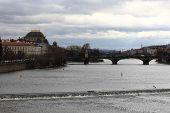 stock photo of legion  - View of bridge of the Legions in Prague - JPG