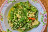 foto of gourds  - Sponge Gourd fried with Egg ingredient  - JPG