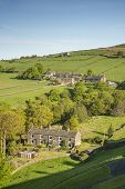 foto of hamlet  - A small group of stone built cottages forming a Hamlet in Calderdale - JPG