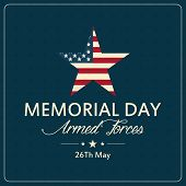 picture of special day  - abstract memorial day background with special objects - JPG