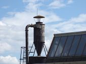 image of hoppers  - Old grain or coal hopper in old factory - JPG