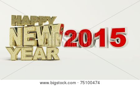 Render Of Happy New Year 2015
