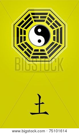 Bagua Yin Yang Symbol With Earth Element.