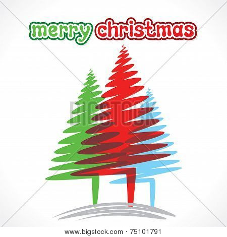 creative merry christmas greeting design vector