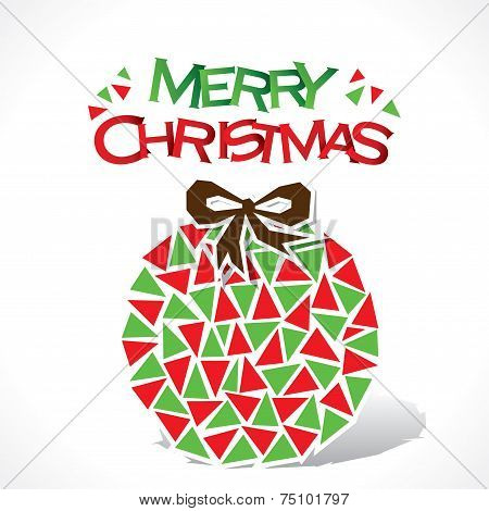 creative merry Christmas ball design vector