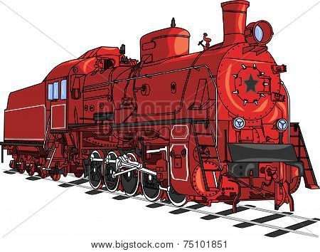 Train Locomotive Vector.