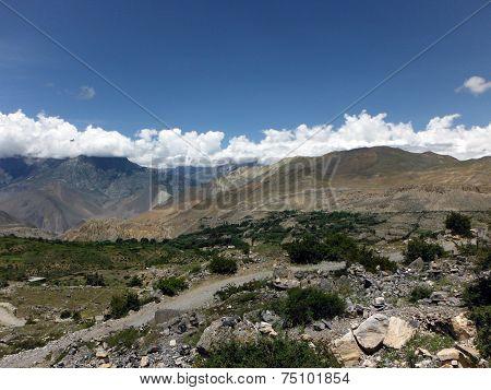 Bushy Landscape Of Annapurna Himalayas