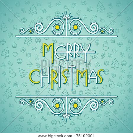 creative merry christmas background design vector