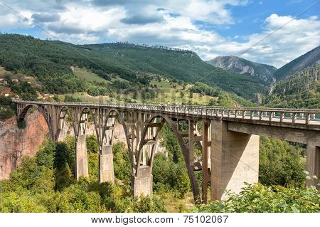 Durdevica Tara Bridge Over The Tara River, Montenegro