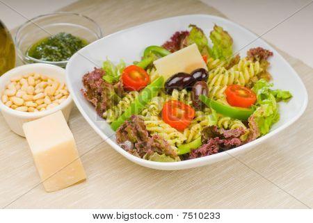 Italian Fusilli Pasta Salad